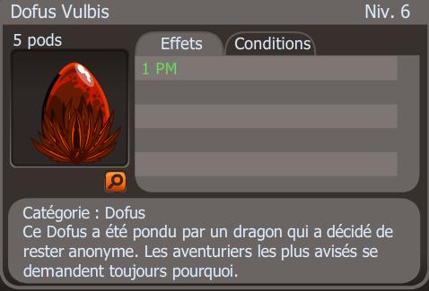 à la recherche d'un Dofus Vulbis.