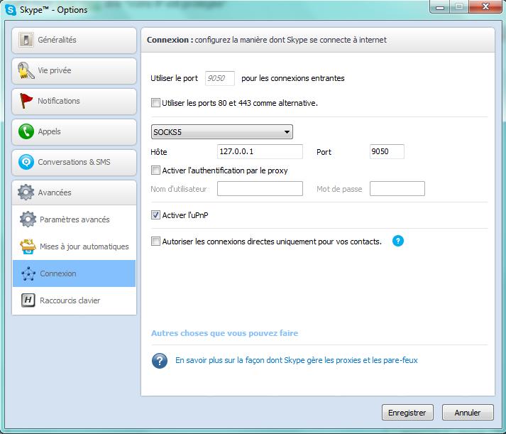 Cacher l'adresse IP de son Skype.