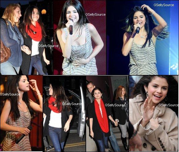 * Selena Gomez à Londres. *