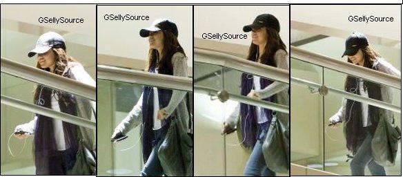 * Selena Gomez dans l'aéroport de Los Angeles. *