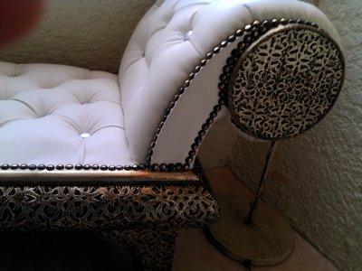 Canapé blanc Marocain