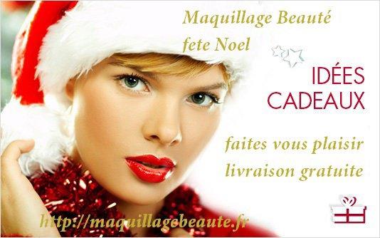 Maquillage beauté Fête Noel