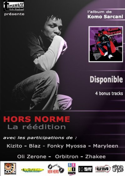 """""""HORS NORME: LA RÉÉDITION"""" de Komo Sarcani est disponible en digital et en physique"""