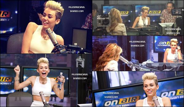 """03/06 : Miley était à """"Radio Ryan Seacrest"""""""