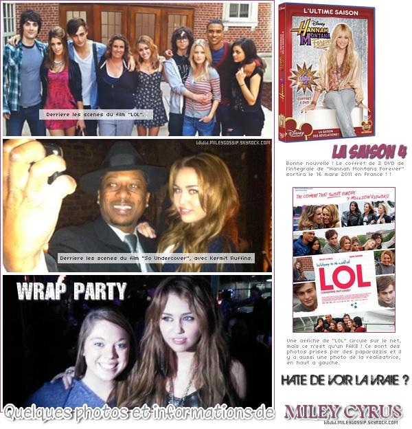 """- 20 janvier ~ Miley se trouvait à une wrap party du film """"So Undercover""""à Nouvelle-Orléans.On n'a malheureusement qu'une seule photo de cette wrap party ! Et découvrez aussi d'autres photos et informations. -"""