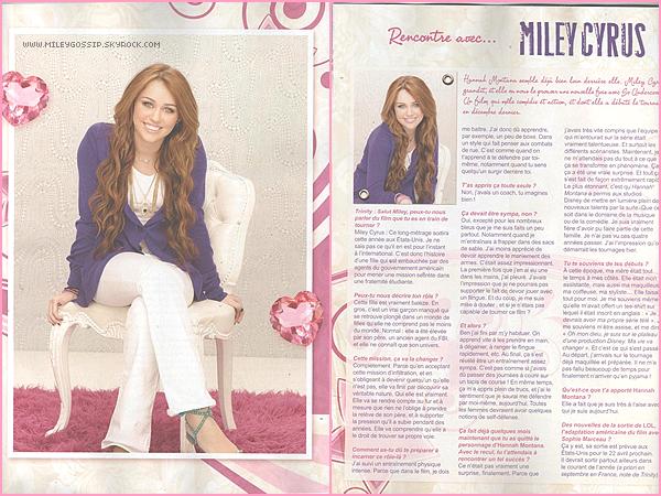 -Magazine ~ Découvres des scans du magazine Trinity Stars édition mars et avril 2011. -