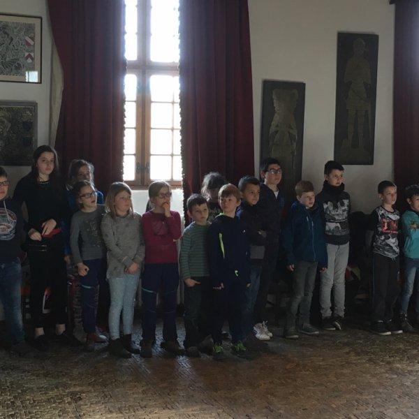 Visite au château