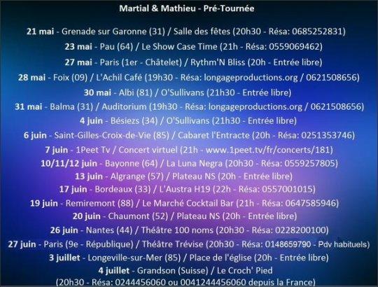 Martial et Mathieu : Une Pré-Tournée annoncée !