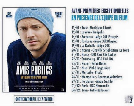 "Kev Adams : Avant-premières de ""Amis Publics n°1"""