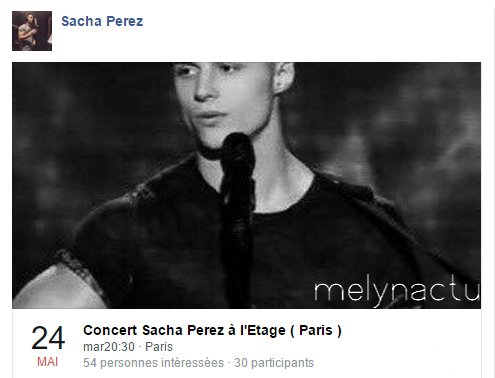 Sacha Perez : En concert à Paris