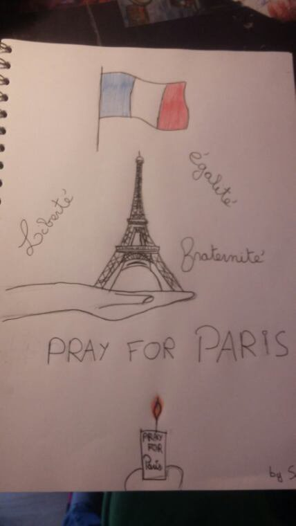 Pray for Paris ( dessins by  me )