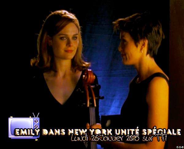 Emily dans New York Unité Spéciale CE SOIR sur TF1 ♥