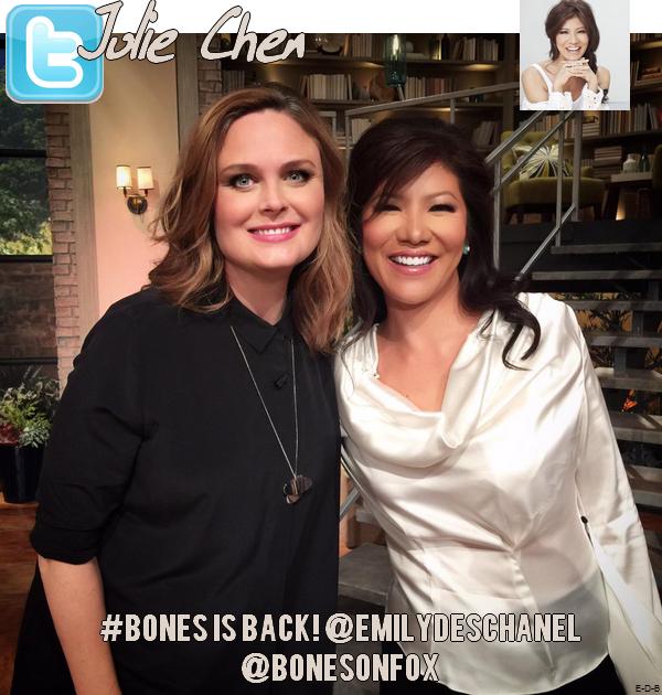 The Talk - Emily Deschanel on Pregnancy & 'Bones' le 23/03/15 ♥