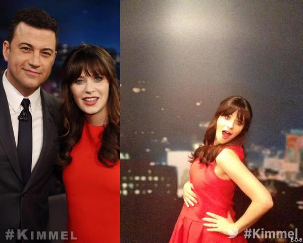 """Zooey au """"Jimmy Kimmel Live"""" le 26/03/15 ♥"""