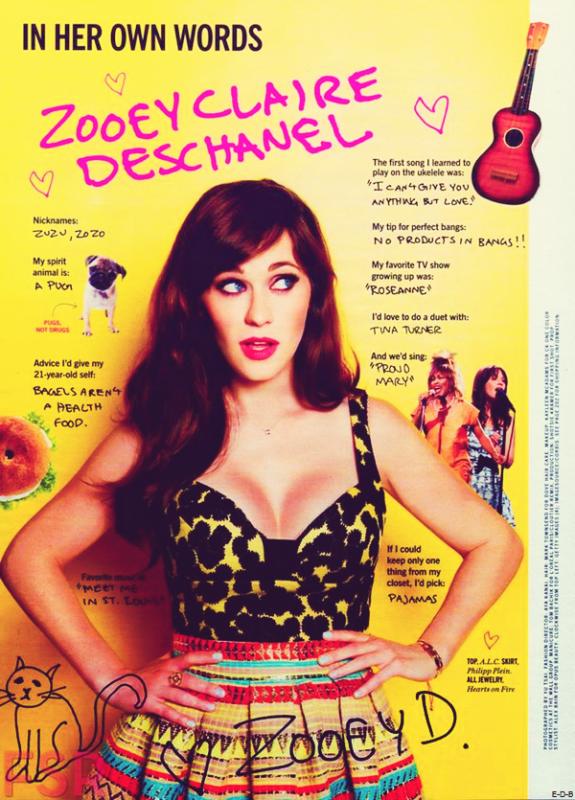 Zooey dans le magazine américain Cosmopolitan Juin 2015 ♥