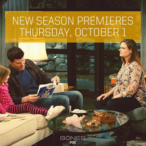 Date du lancement de la saison 11 de Bones ♥