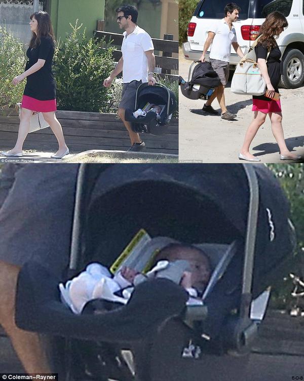 Candids 2015: Zooey, son mari et sa fille en balade le 08/08/15 ♥