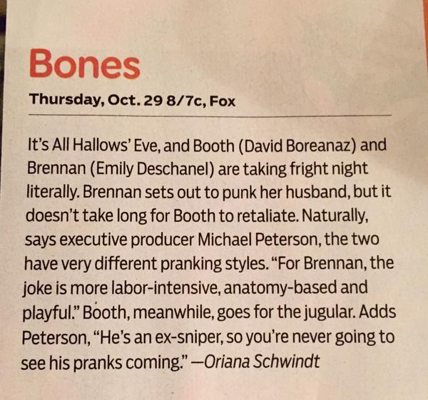Magazine: Bones dans des magazines américain ♥