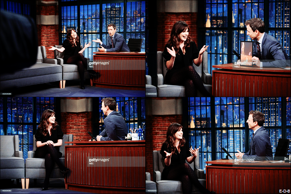 Zooey Deschanel au Late night Show with Seth Meyers le 15/10/15 ♥