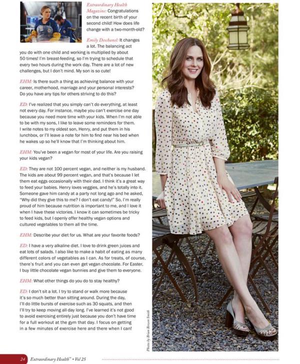 Magazine: Emily pour Extraordinary Health ♥