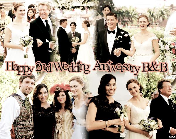 Joyeux 2ème anniversaire de mariage B&B ♥