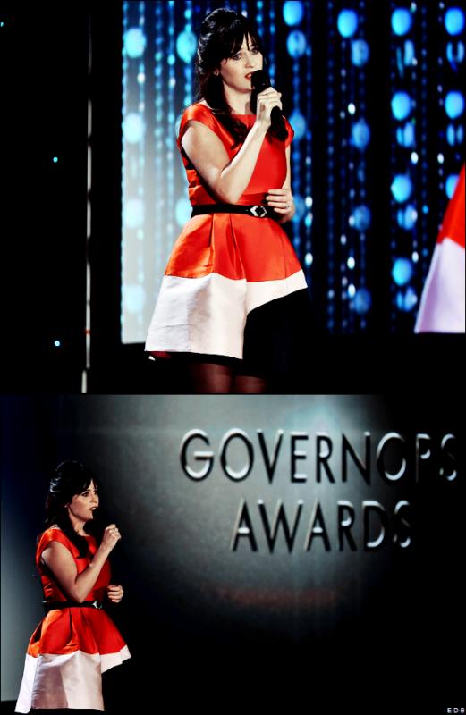 "Events: Zooey au ""Academy of Motion Picture Arts and Sciences' 7th Annual Governors Awards"" le 14/11/15 ♥"