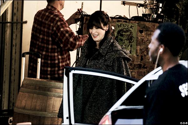 Candids: Zooey sur le tournage de New Girl le 15/12/15 ♥