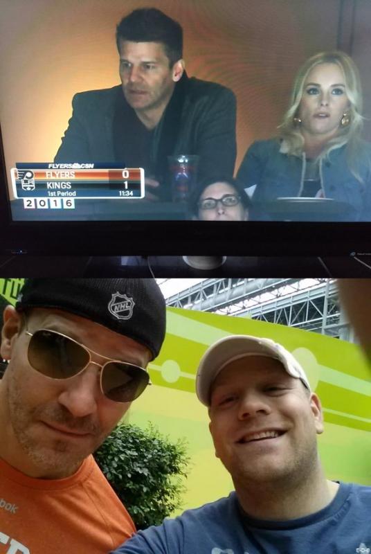 Candids: David & sa femme à un match de Hockey Janvier 2016 ♥