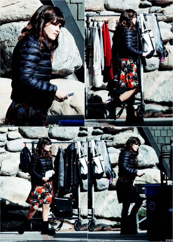 Candids: Zooey sur le tournage de New Girl le 13/01/16 ♥
