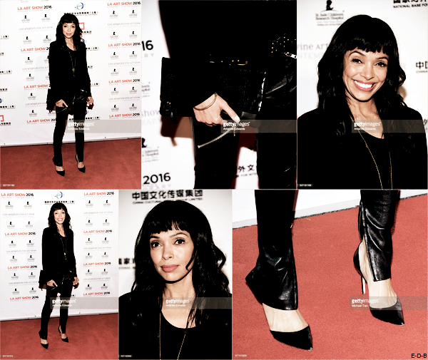 "Events: Tamara Taylor au ""LA Art Show and Los Angeles Fine Art Show's 2016"" ♥"