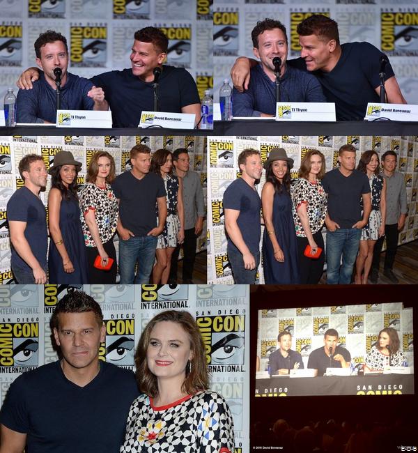 Events: L'équipe de Bones au Comic Con de San Diego le 22/07/16 (Suite)♥