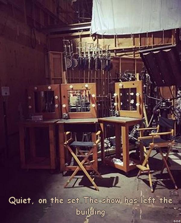 Le tournage est fini dans les studios de la Fox ♥