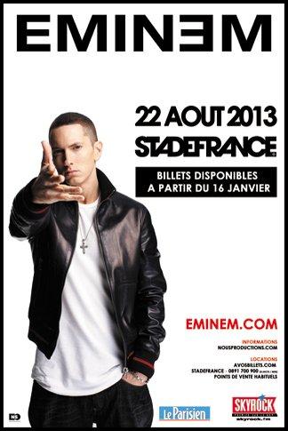 Eminem au stade de france le 22 aout 2013