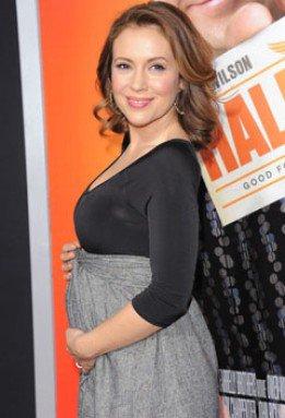 Alyssa Milano enceinte, 1ere sortie / Ventre arrondi /