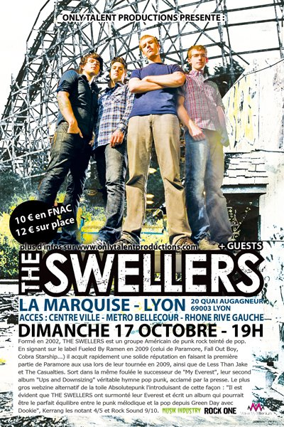 At Last You Can Fall en première partie de The Swellers !!