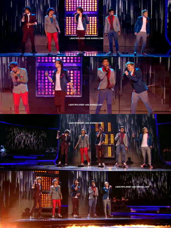 - Leur nouvelle chanson Another World en entier. Les One Direction sont sur le plateau de X-Factor ce soir. Quelques photos... Twitter, la France, est les One Direction...  Des photos sur le plateau d'X-Factor où ils ont chanté en live Gotta be you.-