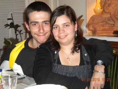 Mon chéri et moi pour le jour de l'an 2010