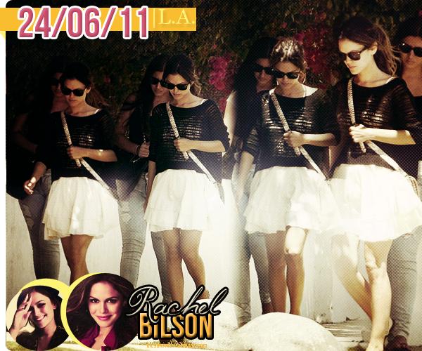Rachel à Los Angeles avec des amies, le 24 juin 2011. + Sa tenue est très simple, mais je trouve qu'elle donne bien.