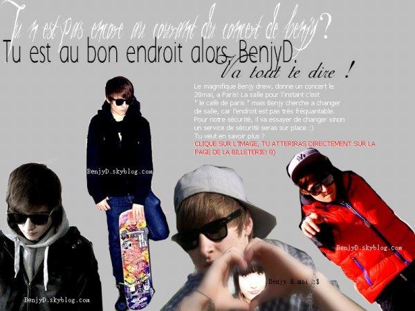 Concert de Benjy. ♥