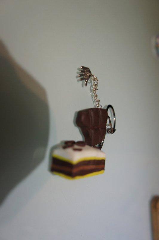 porte clé chocolat et napolitain