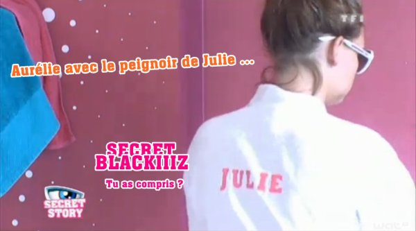 SECRET STORY 5 - Julie et son peignoir ...