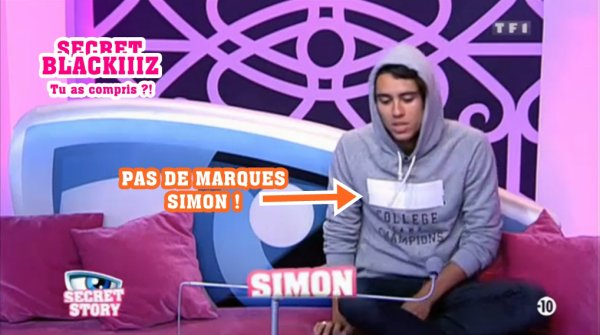 SECRET STORY 5 - Simon ... Tu as compris ?!