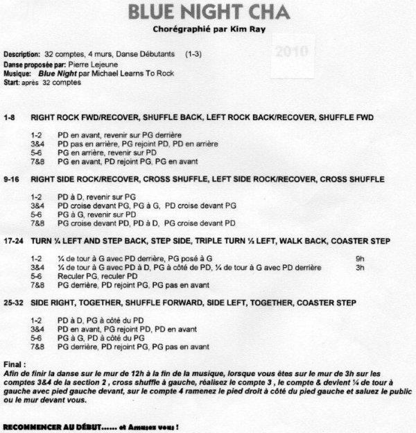 BLUE NIGHT CHA