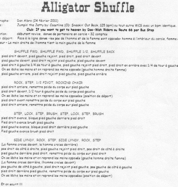 ALLIGATOR SHUFFLE