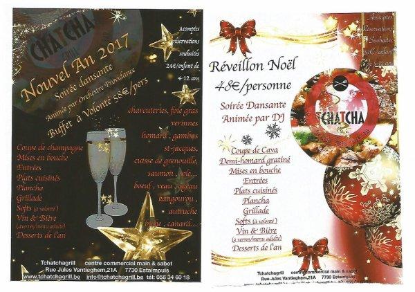 Affiches Pour Le Reveillon Tcha Tcha Grill