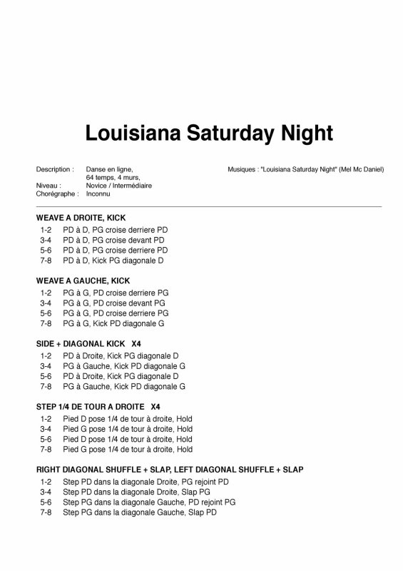 LOUISIANA SATURDAY NIGHT
