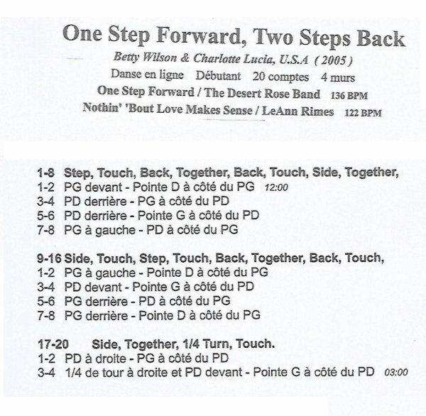 ONE STEP FORWARD, 2 STEPS BACK