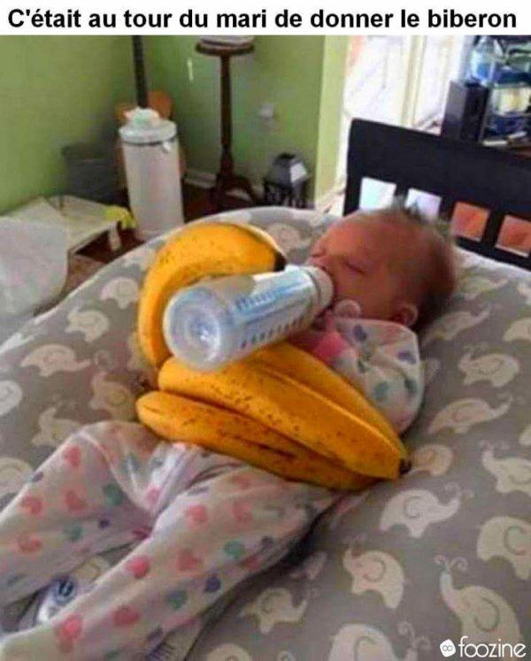 Quand c'est papa qui s'occupe du bébé 😂😂😂