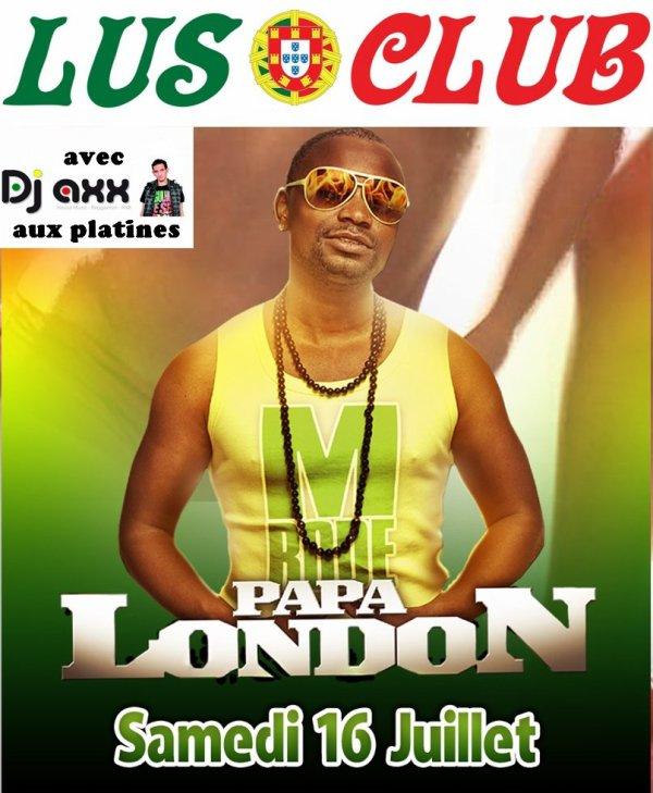 Papa London en concert au Lusoclub