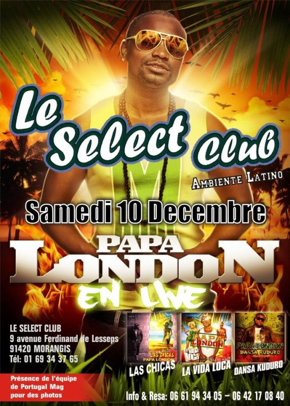 Papa London en concert au SELECT CLUB